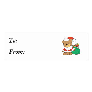 Cute Santa Bear and Toy Sack Business Cards