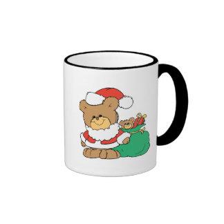 Cute Santa Bear and Toy Sack Coffee Mug