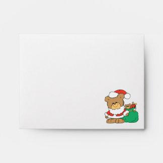 Cute Santa Bear and Toy Sack Envelope