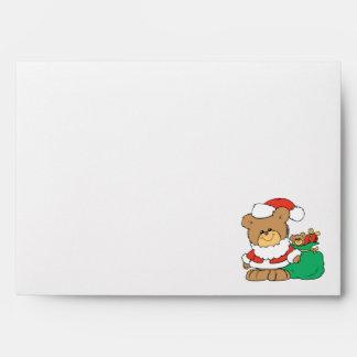 Cute Santa Bear and Toy Sack Envelopes