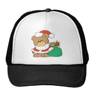 Cute Santa Bear and Toy Sack Hats