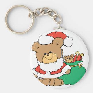 Cute Santa Bear and Toy Sack Keychains