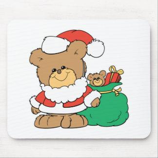 Cute Santa Bear and Toy Sack Mouse Mats