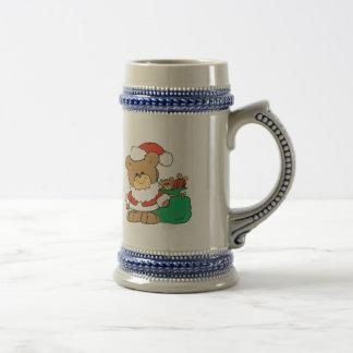Cute Santa Bear and Toy Sack Mugs