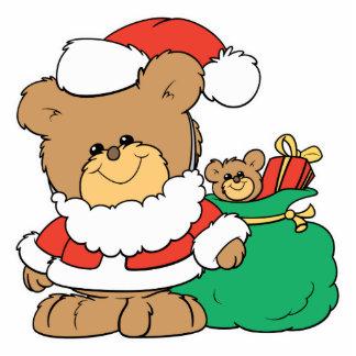 Cute Santa Bear and Toy Sack Photo Sculpture