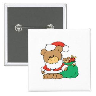 Cute Santa Bear and Toy Sack Pin