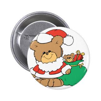 Cute Santa Bear and Toy Sack Pins