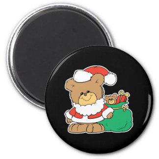 Cute Santa Bear and Toy Sack Refrigerator Magnets