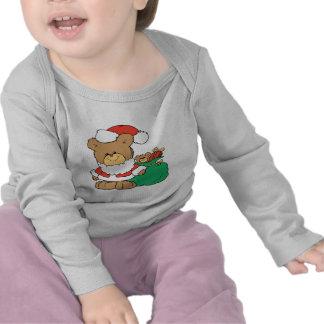 Cute Santa Bear and Toy Sack Shirts