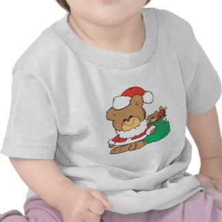 Cute Santa Bear and Toy Sack T-shirts