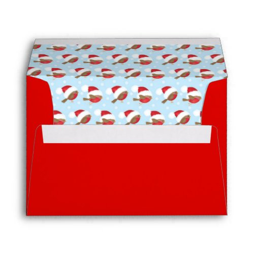 Cute Santa Birds Christmas Envelopes