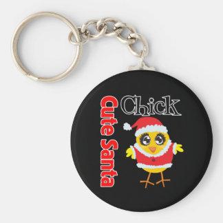 Cute Santa Chick Keychain