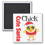 Cute Santa Chick Refrigerator Magnet