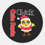 Cute Santa Chick Sticker