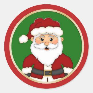 Cute Santa Christmas Classic Round Sticker