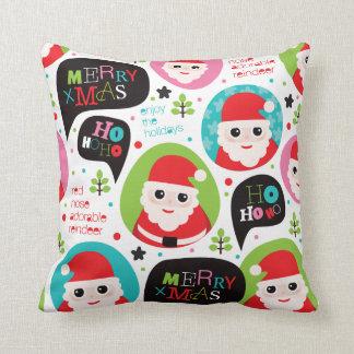Cute santa christmas kids pillow ho ho ho