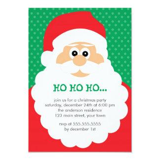 Cute Santa Christmas Party 5x7 Paper Invitation Card