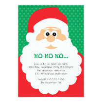 Cute Santa Christmas Party Invitation