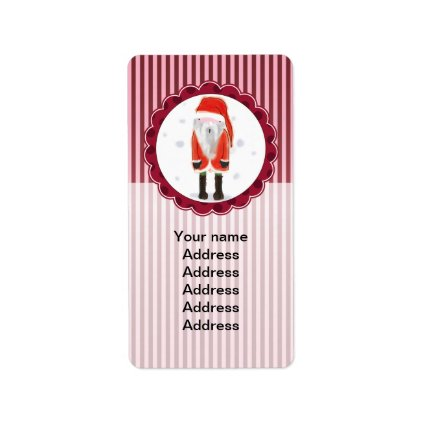 Cute Santa Christmas Personalized Address Label