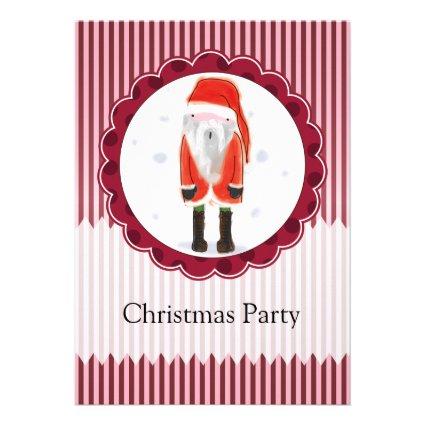 Cute Santa Christmas Personalized Invites