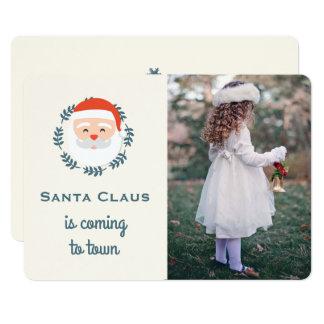 Cute Santa Christmas Photo Card