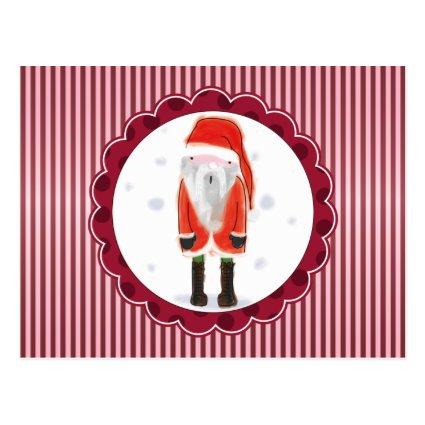Cute Santa Christmas Post Card