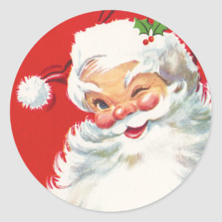 Cute Santa Christmas stickers