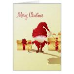 Cute Santa Claus and Gifts Blank Card