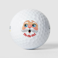 Cute Santa Claus Cartoon Golf Balls