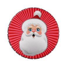 Cute Santa Claus Cartoon Jelly Belly Candy Tin