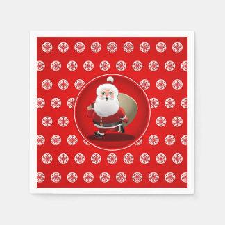 Cute Santa Claus Cartoon Napkin