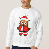 Cute Santa Claus Cartoon Owl - Christmas Gift Sweatshirt