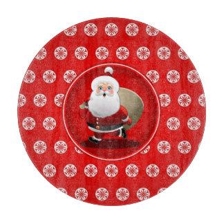 Cute Santa Claus Children's Cartoon Cutting Board