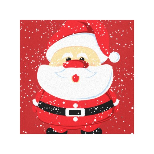 Cute Santa Claus Christmas custom Canvas Print