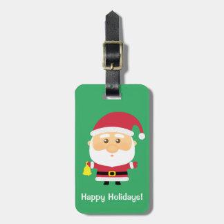 Cute Santa Claus Christmas For Kids Bag Tag