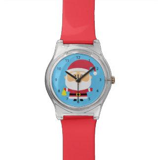 Cute Santa Claus Christmas For Kids Wrist Watch
