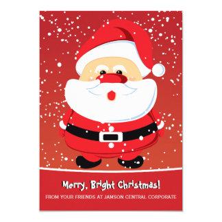 Cute Santa Claus Christmas holiday corporate Card
