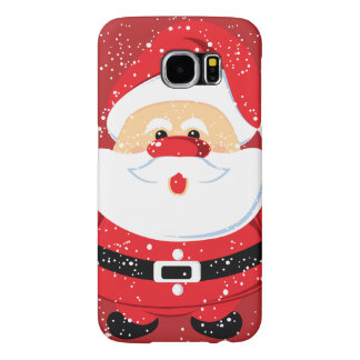 Cute Santa Claus Christmas holiday Samsung Galaxy S6 Case
