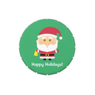 Cute Santa Claus Christmas Holidays Treats Jelly Belly Candy Tin