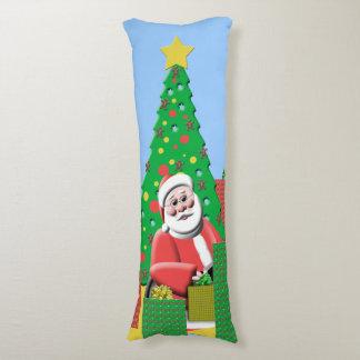 Cute Santa Claus Christmas Tree Presents Holiday Body Pillow