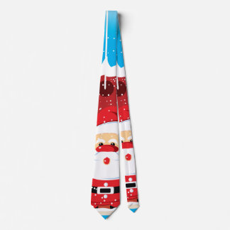 Cute Santa Claus custom Christmas necktie