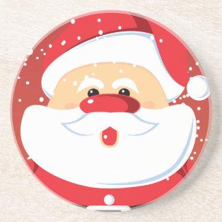 Cute Santa Claus custom coaster