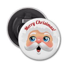 Cute Santa Claus Face Cartoon Bottle Opener