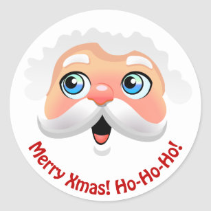 Santa Face Stickers | Zazzle