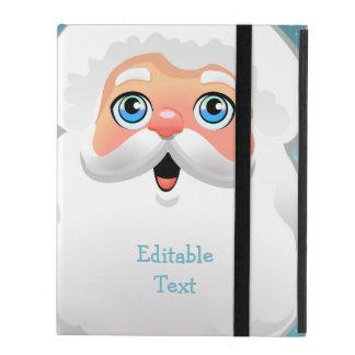Cute Santa Claus Face Cartoon iPad Folio Case
