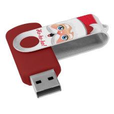 Cute Santa Claus Face Cartoon USB Flash Drive