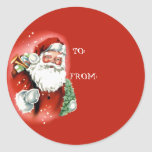 Cute Santa Claus Gift Tag Stickers