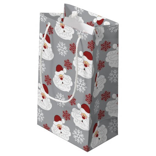Cute Santa Claus Holiday Pattern Gift Bag