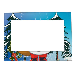 Cute santa claus magnetic photo frame