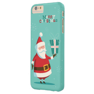 Cute Santa Claus Merry Christmas Barely There iPhone 6 Plus Case